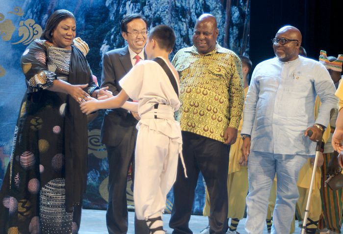 Chinese Embassy Hosts Kung Fu Show In Accra; China Celebrates 70th Anniversary