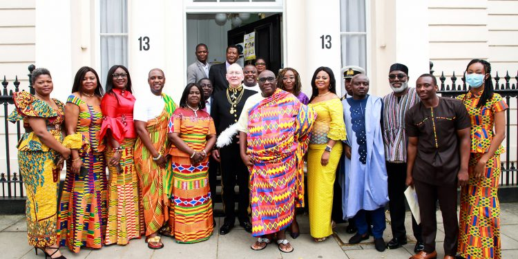 Papa Owusu Ankomah Presents Letters Of Credence To Queen Elizabeth II