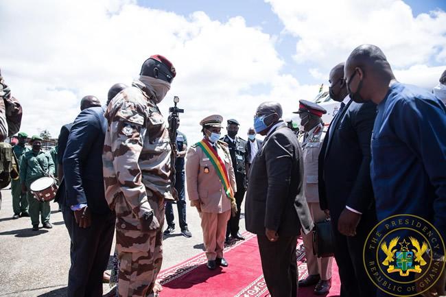 Akufo-Addo, Ouattara In Guinea To Confer With Military Junta